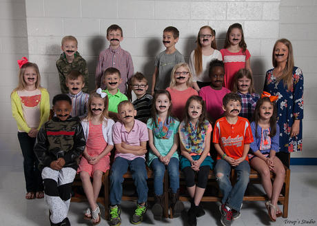 When School Picture Day and National Fake Mustache Day Collide